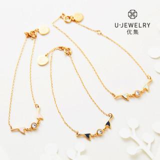 优集(U Jewelry)7XQS5700L8486 喜鹊系列 双喜临门迷你款手链薄荷绿 浅绿 1