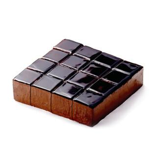 廿一客(21cake)黑方巧克力乳脂奶油个性欧式方形下午茶庆典生日蛋糕2磅  生日礼物同城配送当日送达