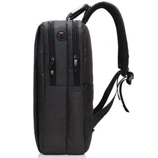 TRiES 才子 双肩包男士15.6英寸电脑包立体版型背包商务通勤休闲旅行包大学生书包 深灰色BH5115
