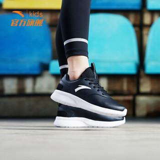 安踏(ANTA)童鞋男中大童运动鞋透气跑步鞋A31835511黑/安踏白/深灰37