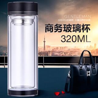 佳佰 Jiabai-G001 高硼硅玻璃杯 320ml 黑色