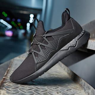 ERKE 鸿星尔克 运动鞋男子跑鞋健身慢跑舒适跑步鞋休闲鞋男鞋 51118302238 黑 41
