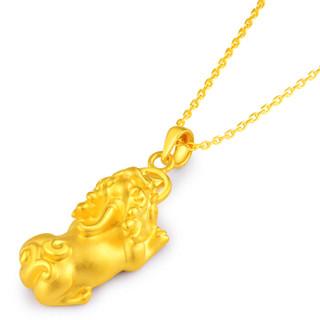 老庙黄金足金硬金吊坠铜钱貔貅1040000475约2.6-2.8克 足金 2.6-2.8