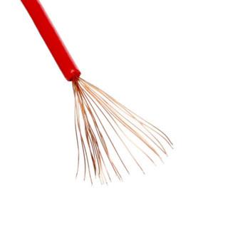 金山 电线电缆  国标单芯多股塑铜软线BVR4平方毫米  双色  100米/盘