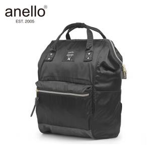 anello 阿耐洛 自营旗舰店 光泽感潮流离家出走妈妈包中号双肩包B1491黑色