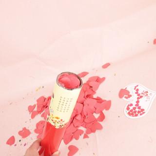 极度空间(JDKJ)创意心形花瓣礼炮结婚礼花筒开业喜庆礼宾花40cm*4 花嫁款