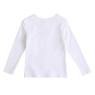 KENZO KIDS 高田贤三 奢侈品童装 女童白色棉质蓝虎头印花长袖T恤 KM10503 01 2A