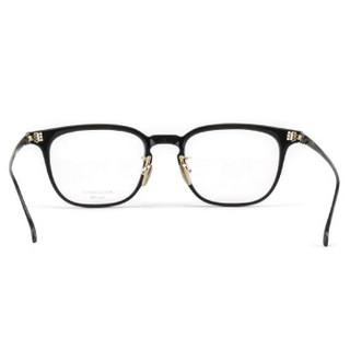 MASUNAGA增永眼镜男女复古手工全框眼镜架配镜近视光学镜架GMS-14 #19 黑框灰腿