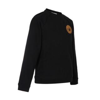 VERSACE COLLECTION 范思哲 奢侈品 男士黑色棉质圆领长袖插肩卫衣 V800687S VJ00358 V1008 L码