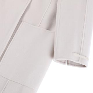 MAX MARA STUDIO 麦丝玛拉 女士象牙白羊毛长款大衣 ALATI 005 38