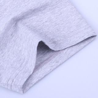 相思鸟 xiangsiniao 短袖T恤男自营纯色圆领修身基础款百搭都市休闲短袖T恤打底衫 S3灰色 175/92A