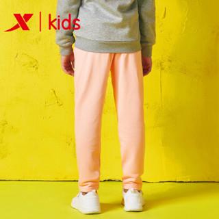 特步童装男童裤子2018新款儿童运动裤中大童长裤 881124639356 粉红 160cm