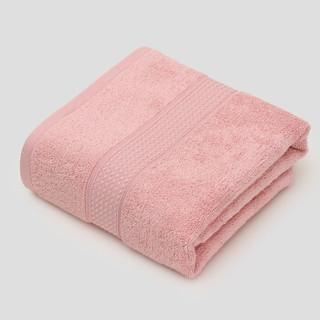 HOYO 浴巾 日本进口 纯棉A类长绒棉浴巾 全棉成人吸水大毛巾 婴幼儿童可用 粉色 70*140cm