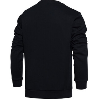 LI-NING 李宁 AWDM795-1  运动时尚系列  男 卫衣类 标准黑  XXL