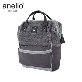 anello 阿耐洛 自营旗舰店 潮流时尚妈妈包高密短绒双肩背包B2931灰色