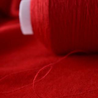 牧心 羊绒线毛线 26/2中细线 手编机织均可 婴儿宝宝毛线 围巾线Z08 大红色