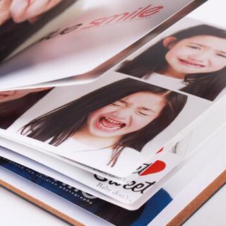 虎彩 皮质照片书定制相册宝宝相片影集来图制作生活记录成长相册制作 10寸方款咖啡色40P