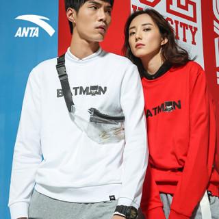 ANTA 安踏 生活系列  95839787-2 运动卫衣男新款DC联名款潮流运动套头卫衣 大红 XL(男180)
