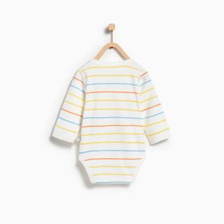 童泰新生婴儿衣服纯棉包屁衣四季宝宝连体衣 TS82J095 条纹 66
