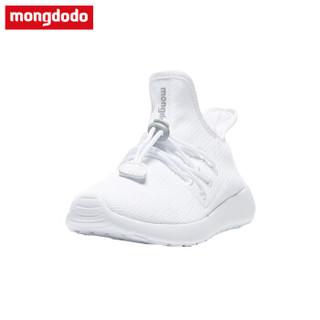 巴拉巴拉旗下梦多多(mongdodo)童装男童运动鞋2018冬季中大童运动鞋71103180158本白37