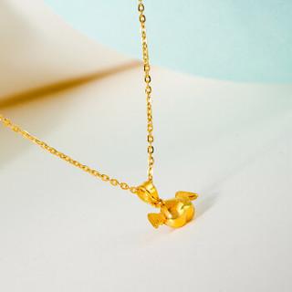 潮宏基 天使之翼 黄金吊坠挂坠 黄金足金吊坠