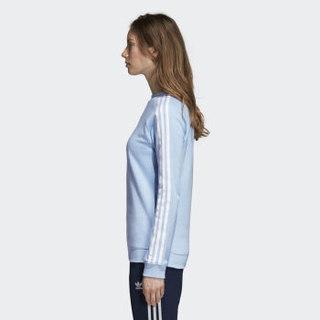 adidas 阿迪达斯 女子 三叶草系列 TRF CREW SWEAT 运动 卫衣 DH3173   蓝色  M码