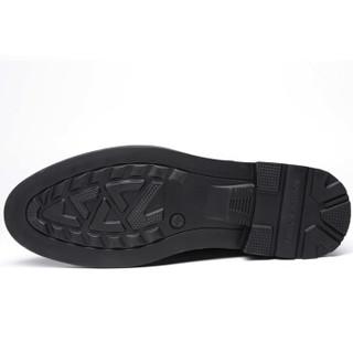 Poitulas 波图蕾斯 男士商务正装休闲皮鞋英伦低帮系带 5288 黑色 39