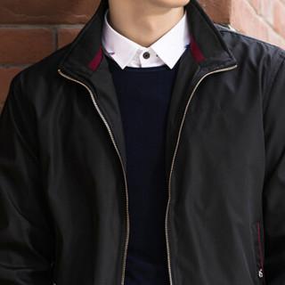 卡帝乐鳄鱼(CARTELO)夹克男2018秋季新款商务休闲立领短款男士外套男装衣服 217603 湖蓝色 L