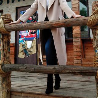 J.ZAO 女士高弹修身小脚牛仔裤 春季牛仔裤女小脚 深蓝色 26(160/66A)