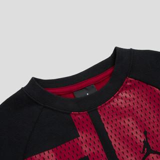 乔丹Jordan 男中大儿童圆领套头薄卫衣新款春秋装上衣拼接色打底衫83311HO402