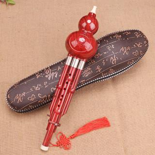 摩里恩 molien 葫芦丝乐器 白铜胶木三音C调葫芦丝 民族管弦乐器初学仿乌木