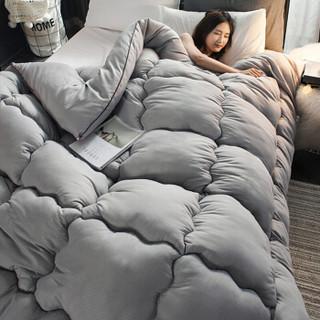 南极人 被芯 春秋被子 纤维被 空调被 保暖双人盖被 灰色 200*230cm 4斤