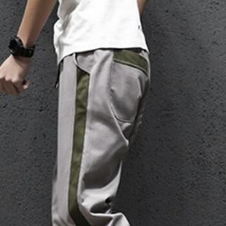 金盾(KIN DON)休闲裤 2019新款男士休闲裤时尚拼接小脚长裤A141-K822灰色XL