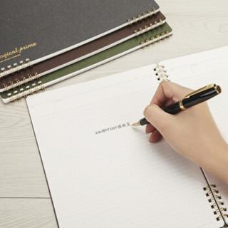 日本仲林(Nakabayashi)B5/50页线圈笔记本子记事本作业本 商务学生记录本 黛蓝