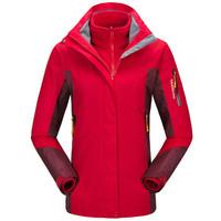 Fuguiniao 富贵鸟 两件套保暖防水防寒带帽登山服 D058 中国红 M