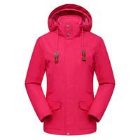 Surefire 神火 18年秋冬新款防水透气保暖户外三穿冲锋衣 Y030012 玫红色 XL