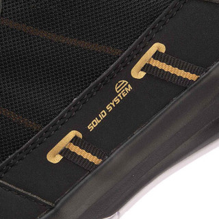 LI-NING 李宁 羽毛球系列 男 羽毛球训练鞋 AYTN043 标准黑/赤金色 43码