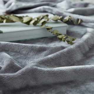 北极绒 毛毯 云貂绒毯子 空调毯 毛巾被 办公室午睡四季盖毯 灰色 150*200cm