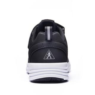 足力健 老人健步鞋男透气网面慢跑软底爸爸妈妈运动休闲散步 ZLJ7708 男款(黑色) 39