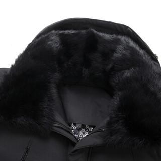 太子龙 冬季新款爸爸中长款毛领可脱卸连帽父亲衣服男装 805