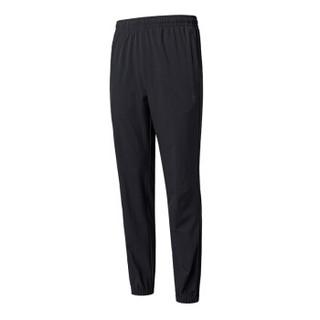 QIAODAN 乔丹 男运动裤梭织运动长裤卫裤休闲裤 XYK1396239 黑色 S