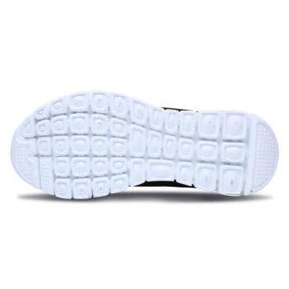 SKECHERS 斯凯奇 LIFESTYLE系列  女款绑带休闲跑步鞋  12615-BKW 黑色 37