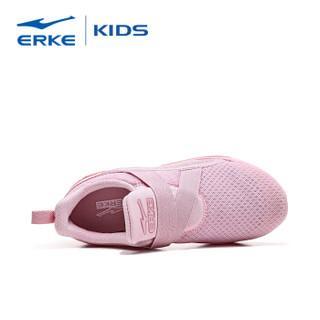 鸿星尔克(ERKE)女童鞋儿童运动鞋大童魔术贴透气跑鞋休闲鞋 64119120070 粉红 32码