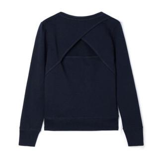 Gap旗舰店 Fit系列女童 套头运动卫衣 基本款休闲上衣262161 海军蓝色 XL
