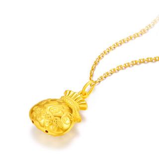 周六福珠宝 福袋满满黄金项链足金项链挂坠 不含链AA042645 约3.04g