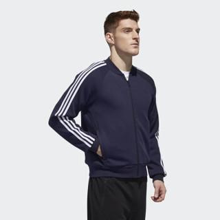adidas 阿迪达斯 COMM BOMB 3S 运动 夹克 DW4673 蓝色 2XL码
