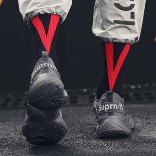 OKKO 系带圆头平底男士休闲鞋运动鞋 K07-DY28 灰色 41