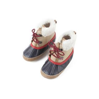 Gap旗舰店 童鞋 婴儿平底短靴雪地靴400090冬装男宝宝低筒靴子棉靴 姜糖色 10.0CM(3-6个月)