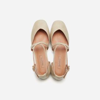 hotwind 热风 H33W9505 女士时尚单鞋 08杏色 37