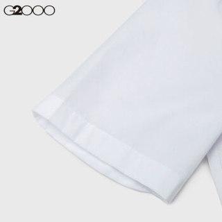G2000商务休闲短袖衬衫男 00045101春夏新款抗皱上班工装薄款男士衬衣夏装 紫色 81 01/160